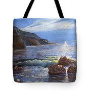 Moon Above The Olympic Peninsula Tote Bag