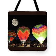 Moon And Balloons Tote Bag