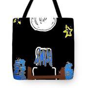 Moon And Beach Watcher On Martha's Vineyard Tote Bag