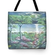 Moon And Forest Tote Bag