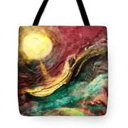 Moon And Ocean Tote Bag