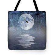Moon And Sea Tote Bag
