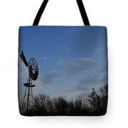 Moon And Windmill Tote Bag