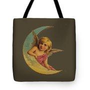 Moon Angel T Shirt Design Tote Bag