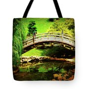Moon Bridge At Huntington Tote Bag