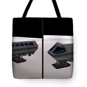 Moon Bus - Gently Cross Your Eyes And Focus On The Middle Image Tote Bag