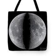 Moon Composite, First And Last Quarter Tote Bag