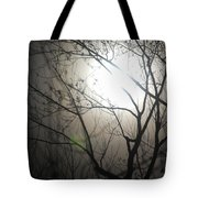 Moon Halo In Winter Tote Bag