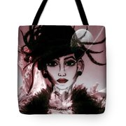 Moon Head Tote Bag by Saifon Anaya