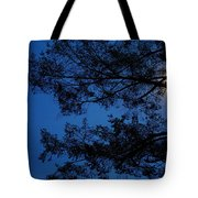 Moon Hiding In The Tree Tote Bag