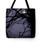Moon In Inky Blue Sky Tote Bag