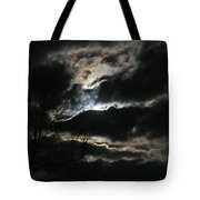 Moon In The Clouds Over Kentucky Lake Tote Bag