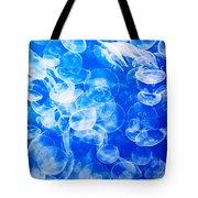 Moon Jellies In Jellyfish Tank In Monterey Aquarium-california Tote Bag