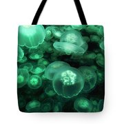 Moon Jelly Aurelia Aurita Group Tote Bag