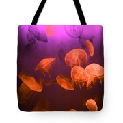Moon Jellyfish - Red And Purple Tote Bag