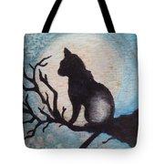 Moon Kitty Tote Bag