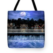 Moon Light - Boathouse Row Philadelphia Tote Bag
