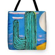 Moon Light Cactus L Tote Bag