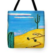 Moon Light Cactus R Tote Bag