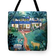 Moonlight Over  Miami Tote Bag by Colette Raker
