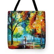 Moon Light Through The Rain Tote Bag