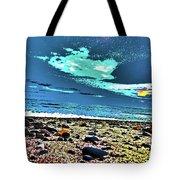 Moon Lit Beach, Bray, Wicklow, Ireland, Poster Effect1b Tote Bag