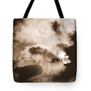 Moon Man Devours The Sun Tote Bag