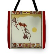 Moon Of Red Chokecherries Tote Bag