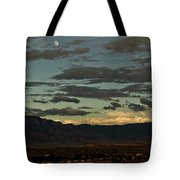 Moon Over Albuquerque Tote Bag