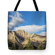 Moon Over Canmore Alberta Tote Bag