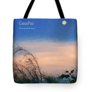 Moon Over Casapaz Tote Bag