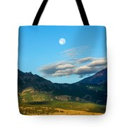 Moon Over Electric Mountain Tote Bag