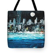 Moon Over Miami Tote Bag by Jorge Delara