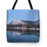 Moon Over Mont Saint Hilaire  Tote Bag