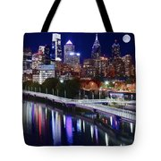 Moon Over Philly Tote Bag