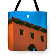 Moon Over Red Adobe Horizontal Tote Bag