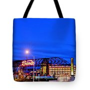 Moon Over Sands Tote Bag