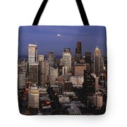 Moon Over Seattle Tote Bag