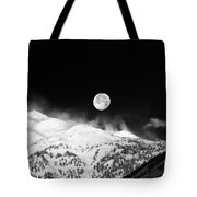 Moon Over The Alps Tote Bag