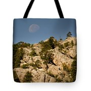 Moon Over The Hills Tote Bag
