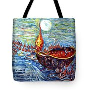 Moon Over The Ocean Tote Bag