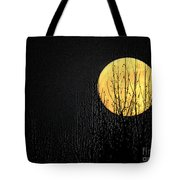 Moon Over The Trees Tote Bag