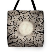 Moon Over Trees Tote Bag