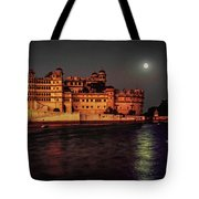 Moon Over Udaipur Tote Bag