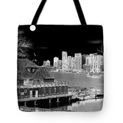 Moon Over Vancouver Tote Bag