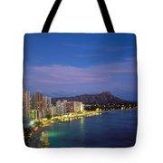 Moon Over Waikiki Tote Bag