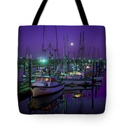 Moon Over Winchester Bay Tote Bag