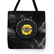 Moon Phase Pendulum With Butterfly  Tote Bag