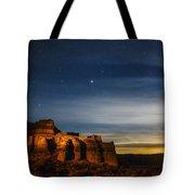 Moon Rise At Pillars Of Rome, Oregon, Usa Tote Bag