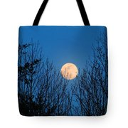 Moon Rising In The Trees Tote Bag